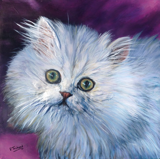 Peintre Animalier Chat #4: Virginie TRABAUD