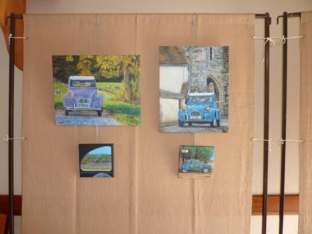 Auto artiste peintre ferrari d en peinture acrylique par perez artiste peintre drey peint - Auto entrepreneur artiste peintre ...