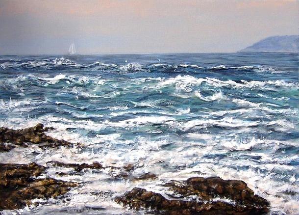 Virginie TRABAUD Artiste Peintre   Peinture Vagues et ...