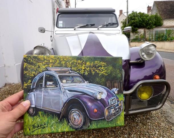 peinture 2 cv grise et violette mod u00e8le 1990